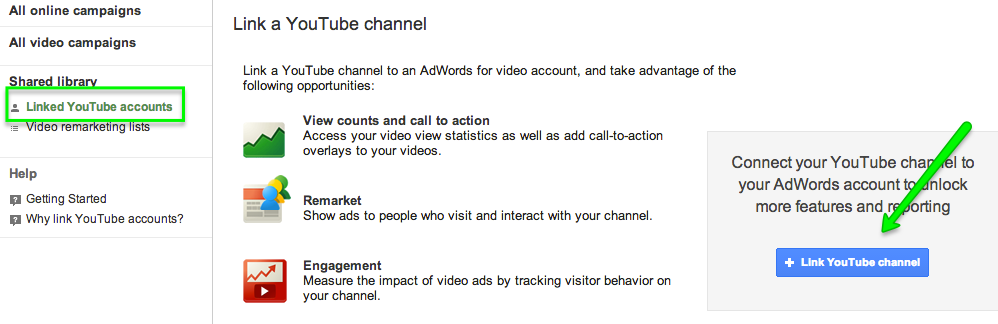 Link AdWords and YouTube