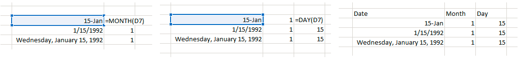 Excel Day and Month formula for PPC