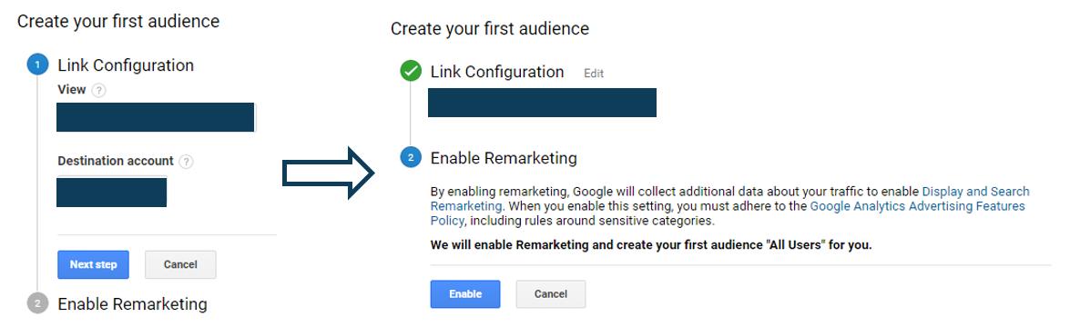 Analytics Remarketing Audience Creation