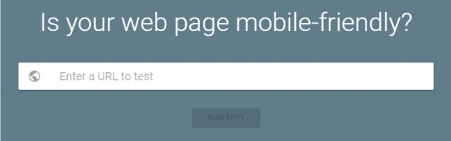 Google's mobile friendly test website