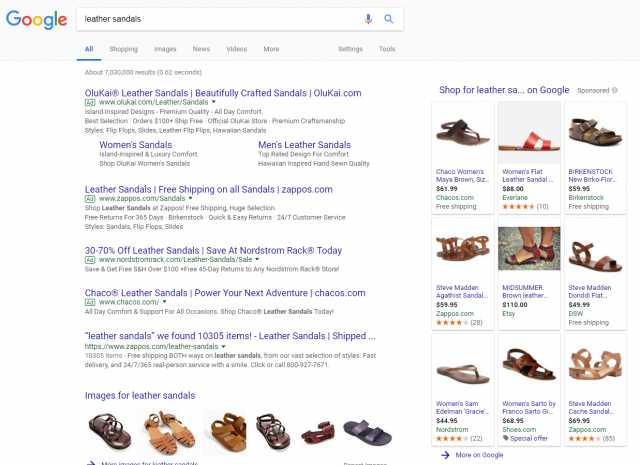 9 slot google shopping ads