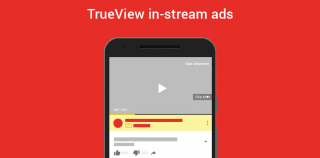 TrueView in-stream ads