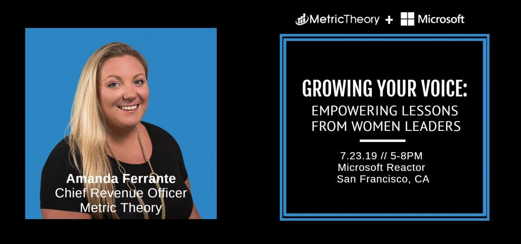 An Interview with Amanda Ferrante, Metric Theory's New Chief Revenue Officer