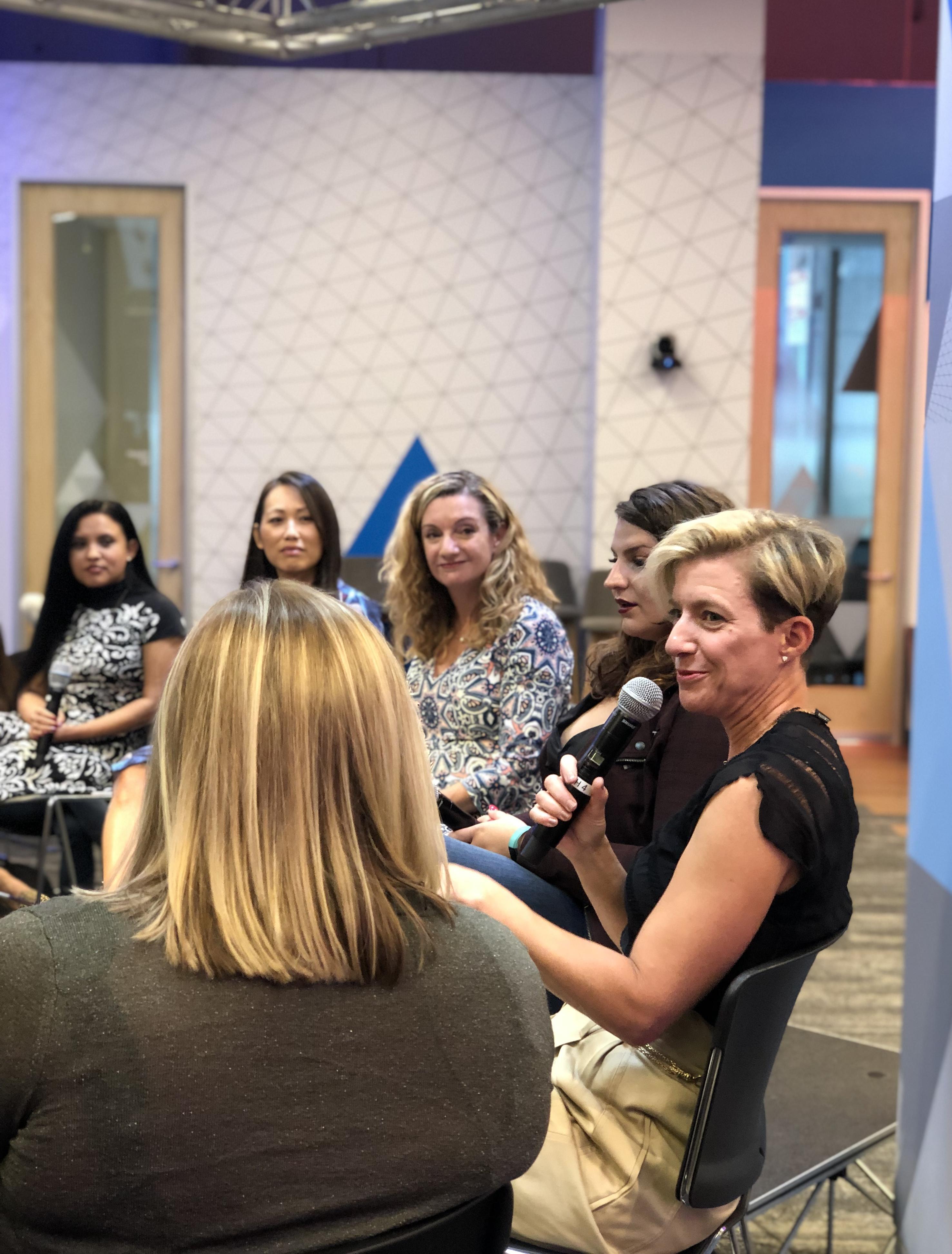 Liza Hausman Speaking at Women in Leadership Event