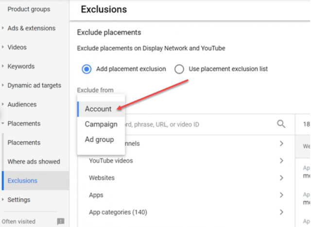Account-Level Exclusions in Google Ads