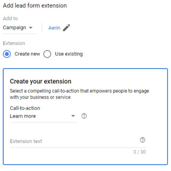 Lead Form Extension Betas Set Up