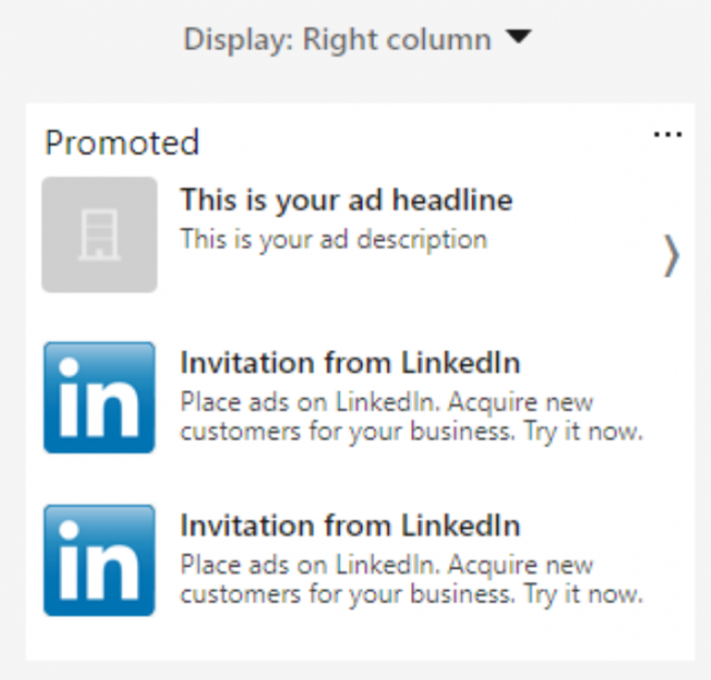 Promoted LinkedIn Content
