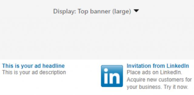 LinkedIn Banner Ad