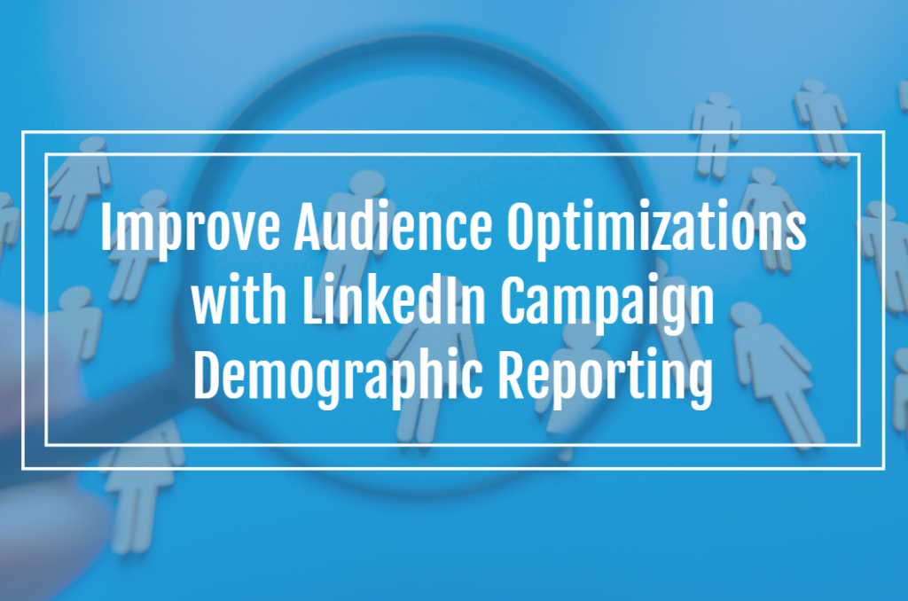Improve Audience Optimizations with LinkedIn Campaign Demographic Reporting